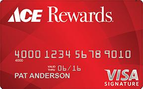 Ace Rewards Visa Signature credit card