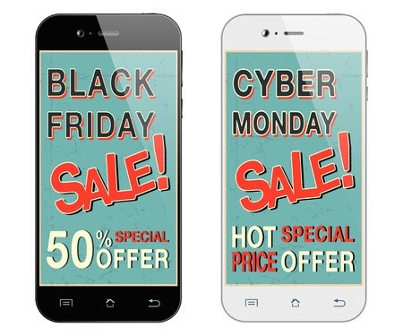 Black Friday and white Cyber Monday cell phones