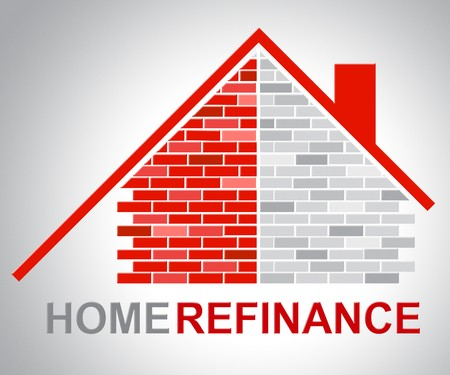 Brick home mortgage refinance drawing