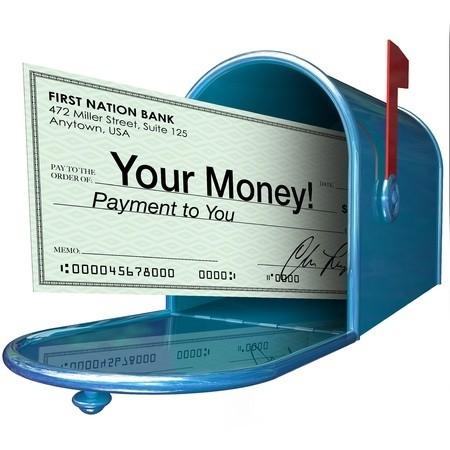 Cash advance convenience check in mailbox