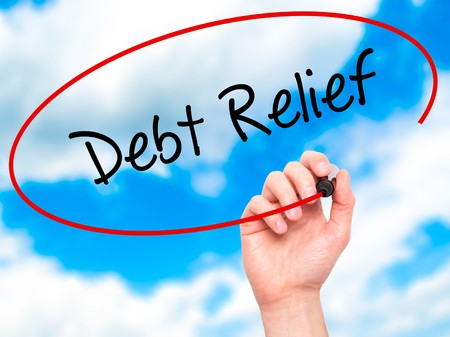 Writing debt relief and circling it in the sky
