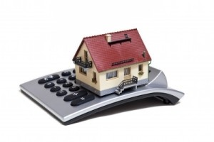 silver mortgage calculator with house on top