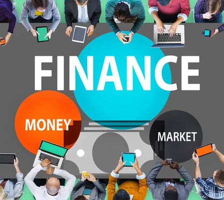 People looking at personal finances and money market