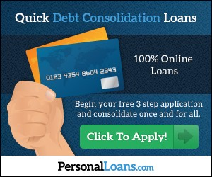 Quick debt consolidation loans at PersonalLoans.com - Click to Apply