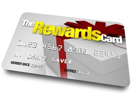 Gray gift box printed plastic rewards card