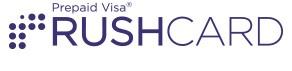 RushCard Logo with Visa